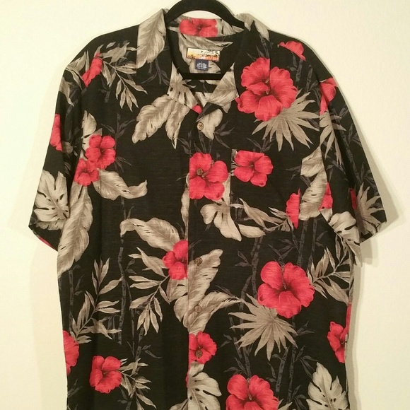ebd14ce5 Havana Jack's Cafe Other - Havana Jack's Cafe 100% Silk Hawaiian Roses shirt